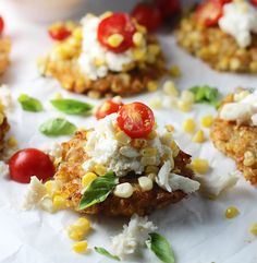 Use GF flour to make Grilled Corn and Crab Fritters