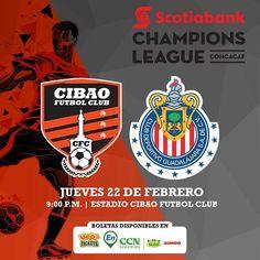 CONCACAF: Cibao FC VS Chivas Jue 22 Feb 2018  9:00PM Estadio Cibao FC Recinto PUCMM Santiago  Precios: VIP: RD$4060 GRADAS: RD$815  Info y boletas: https://uepatickets.com   Boletas Con Precios De Pre Venta. Cantidad Limitada.
