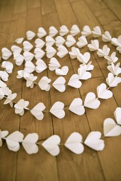 Paper hearts garlands