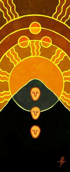 """Гора Триглав"" (по ссылке еще 2 варианта) http://vesemir.blogspot.ru/2017/02/triglau.html  продаю копии и принты уже  готовых работ. рисую на заказ. пишите  I sell copies and prints of my finished works. I work to order. my e-mail plastilinmira@gmail.com******* ******* #mythology , #pagan , #slavic_mythology , #pagan_mythology"