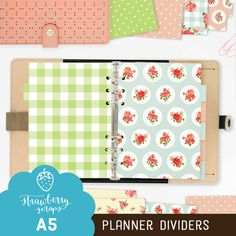 Planner dividers A5: ENGLISH GARDEN 12x  A5 by StrawberryScraps
