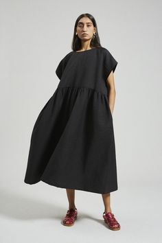 Skirt Outfits, Dress Skirt, Wedges Outfit, Oversized Dress, Rachel Comey, White Fashion, Dress Me Up, Simple Style, Casual Dresses