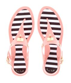 My Style… Have them! LOVE them! So happy to enjoy them this spring!!!  Henri Bendel | Jetsetter Jelly Sandals | Products | Med Pink (8) $88