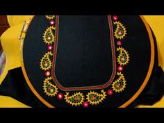 Hand Work Embroidery, Blouse Neck, Line Design, Blouse Designs, Mango, Neckline, Channel, Youtube, Fashion