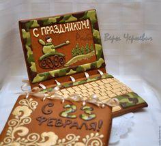 Купить Пряничный ноутбук на 23 февраля - необычный подарок для мужчины - пряник, расписные пряники, пряники