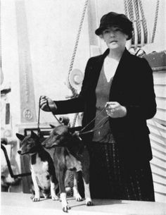 Lady Nutting with the first basenjis in Europe (1923)