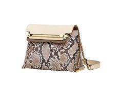 Chloe Coco Milk Python Clare Crossbody Mini Bag Spring 2014
