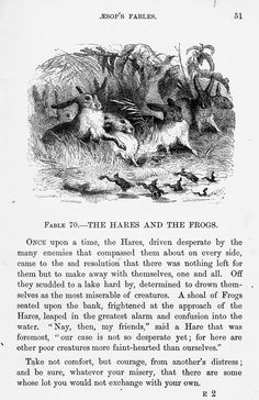 Aesop's Fables #70 - The Hares and the Frogs