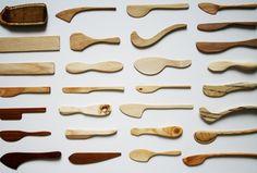 Assorted, wooden spreaders...