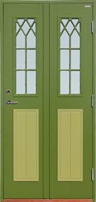 Grön ytterdörr - Polardörrar