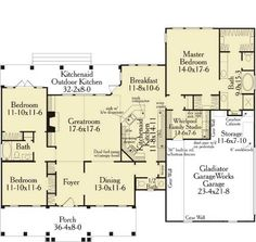 Work with this one!! Colonial House Plan with 3 Bedrooms and 2.5 Baths - Plan 5576