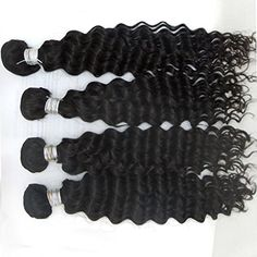 Vedar Beauty Women's 6A Grade Peruvian Virgin Hair Curly Deep Wave,100g/bundle Mix Length Natural Black 3Pcs Lot 16Inch 18Inch 20Inch