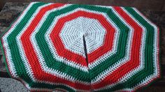 $19.95 Vintage, hand made crochet Christmas tree skirt.