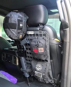 I Added these quick detach pb mounting straps to the back of the seat grey man tactical ridged panel mount in my ford raptor. This keeps the straps from messing up the leather seats and is a must have mod. allows the panel to fit better on the back of the seat. I have my ar-15 medical pouch and accessories pouch and mags mounted to the panel. Thanks Michael for the pics and review! Lookin good! #greymantactical #conqueryourgear Ford Raptor Accessories, Truck Bed Accessories, Tactical Truck, Tactical Gear, Tactical Seat Covers, Armadura Ninja, Truck Interior, Ford Raptor Interior, Toyota Trucks