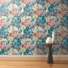 Dianthus Forget Me Not Designer Wallpaper