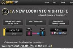 Scenetap make their own cameras, designed specifically to pick out the faces in the frame, determining age and gender, and feed that information back to a database where it is readily available, via an app, for public access. The immediate implications on privacy and consent are obvious, but if this does make it to the UK it could have huge implications on the bar & leisure industry, especially in the North East, a region famed for it's party reputation.    http://fractl.org/scenetap-com/
