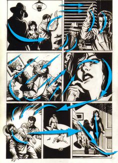 Xenozoic Flow, page by page, Mark Schultz. Comic Book Layout, Comic Book Pages, Comic Books Art, Bd Comics, Manga Comics, Animation Reference, Art Reference, Comic Tutorial, Comic Kunst
