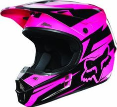 Amazon.com: Fox Racing New Fox V1 Costa Helmet Mens Black/Pink Size : L: Automotive