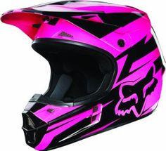 Amazon.com: Fox Racing New Fox V1 Costa Helmet Mens Black/Pink Size : L: Automotive
