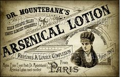 Victorian Vintage Label Ladies Arsenic Lotion by chocolaterabbit, $3.25