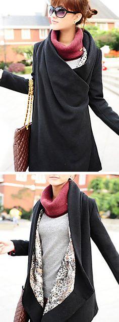 Two Way Asym Hem Coat