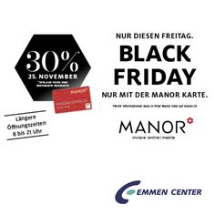 Diesen Freitag bei @manor_official und vielen weiteren Shops im Emmen Center: BLACK FRIDAY!