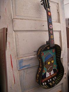 Lighting' Hopkins , Blues guitar, Blues folk art, Texas Blues, Delta Blues , guitar art