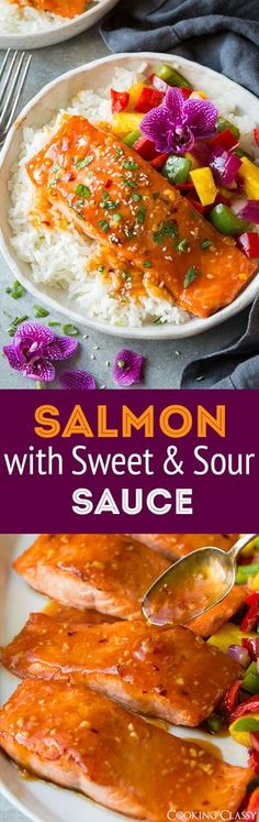Pan Seared Salmon with Sweet and Sour Sauce - Cooking Classy