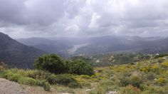 Artificial lake on the way to Lasithi plateau, Crete, Greece