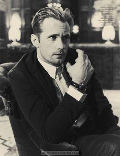 Alexander Skarsgård por Guy Aroch para Man of the World