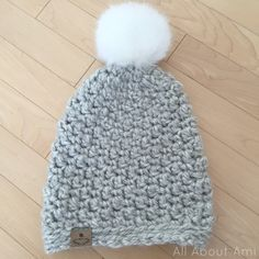 Seed Stitch Beanie - free super chunky crochet pattern from All About Ami.