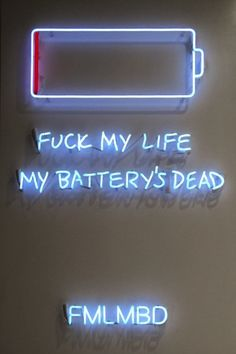 Available for sale from Leila Heller Gallery, Rachel Lee Hovnanian, FMLMBD 60 × 40 in Neon Led, Rachel Lee, Neon Quotes, Neon Words, Neon Design, Light Quotes, All Of The Lights, Blue Aesthetic, Neon Lighting