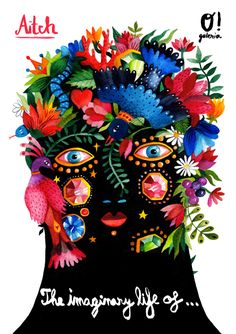 Aitch by Canas Verdes Illustrations, Illustration Art, Words On Canvas, Textiles, Art Journal Inspiration, Types Of Art, Art History, Folk Art, Concept Art