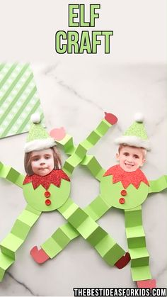 ELF CRAFT This paper elf craft is a lot of fun to make! Add a perso. ELF CRAFT This paper elf craft is a lot of fun to make! Add a personalized touch with your own photo too! Includes a free printable template. im Regal Ideen Christmas Projects For Kids, Preschool Christmas, Christmas Activities, Xmas Crafts, Kids Christmas, Activities For Kids, Christmas Crafts For Preschoolers, Crafts For Christmas, Diy Crafts