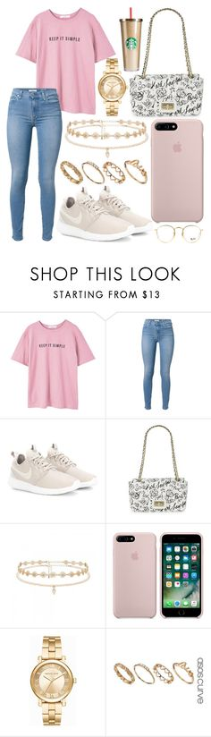 """325."" by plaraa on Polyvore featuring MANGO, 7 For All Mankind, NIKE, Karl Lagerfeld, Forever New, Michael Kors, ASOS and Ray-Ban"