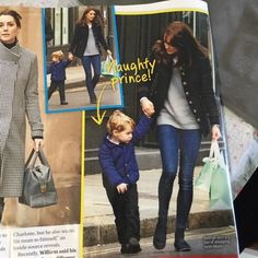 Jan 12, 2016, Prince George went shopping with his mom