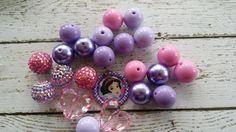 New Chunky Big Bubble Gum Beads DIY SnowWhite by BigBubbleBeads, $12.75