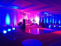 beautifully lit corporate event venue