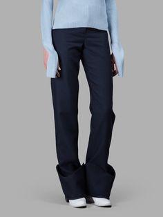 JACQUEMUS Jacquemus Women'S Navy Trousers. #jacquemus #cloth #trousers