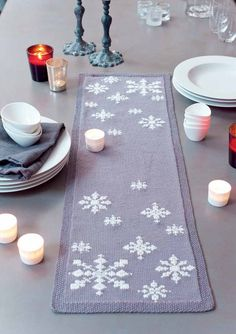 Knitted in MillaMia Naturally Soft Merino, this gorgeous table runner will be a great knitting project ready for Christmas day!