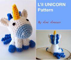 L'il Unicorn pattern amigurumi crochet by amiamour on Etsy https://www.etsy.com/listing/109332162/lil-unicorn-pattern-amigurumi-crochet