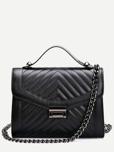Shop Black Quilted Envelope Bag With Chain online. SheIn offers Black Quilted Envelope Bag With Chain & more to fit your fashionable needs.