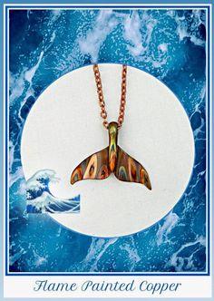 Handmade Jewelry, Handmade Items, Etsy Handmade, Handmade Gifts, Copper Jewelry, Cute Jewelry, Copper Sheets, Mermaid Necklace, Whale Tail