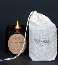 Evergreen Soy Candle by Wolf's Apothecary on Scoutmob Shoppe Taper Candles, Scented Candles, Pillar Candles, Candle Containers, Candle Jars, Organic Candles, Coffee Shop Bar, Candle Making Business, Candle Packaging