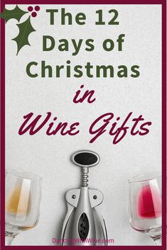 """""""On the first day of Christmas, my true love gave to me."""" Check out this wine-themed gift guide based on the 12 Days of Christmas! Dancing with Wine - The 12 Days of Christmas in Wine Gifts! Romantic Gifts For Her, Unique Gifts For Men, Creative Gifts, Gifts For Him, Christmas Gifts For Wife, 12 Days Of Christmas, Christmas Ideas, Holiday Ideas, Gifts For Wine Lovers"""