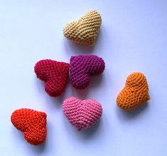 VALENTINE'S DAY SALE Crochet Hearts Amigurumi Valentines Day Heart Gift Love Heart Home decoration ornament - set of 6. $25.00, via Etsy.