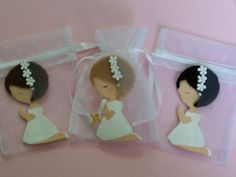 Items similar to First Communion, baptism, confirmation Little Girl party favor bags 10 pieces on Etsy First Communion Party, Communion Gifts, First Holy Communion, Baptism Cookies, Baptism Favors, Little Girl Birthday, Little Girls, Bautizo Cakes, Christening Table Decorations