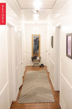 Before & After: A Hallway Gets a Chic Update From Top to Bottom