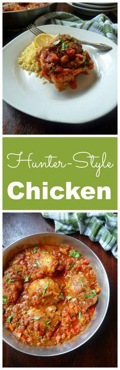 Hunter-Style Chicken {Chicken Cacciatore } looks very impressive on ...