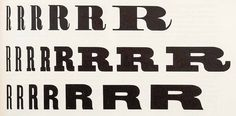 This overview from Rob Roy Kelly's American wood type: 1828–1900 (New York, 1977) shows the variations of wood type widths available by the 1880s (ranging from XXX condensed to extended) in popular designs such as Roman, Antique and Gothic (from top to bottom).